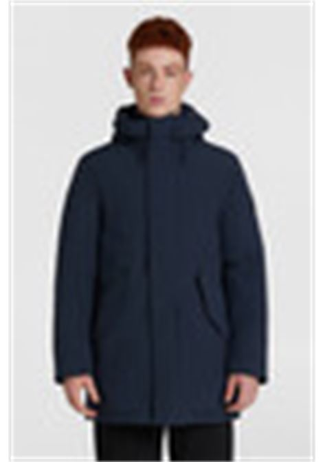 Mountain blue stretch parka WOOLRICH | Overcoat | WOOU0268MR-UT01023989