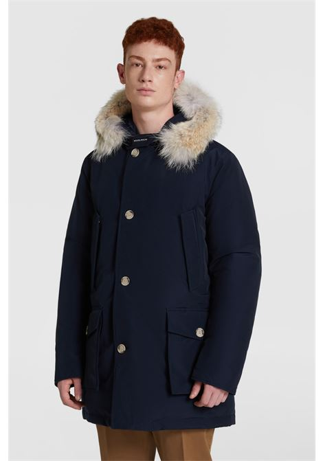 Artic parka with removable fur - blue WOOLRICH | Overcoat | WOOU0270MR-UT0108MLB