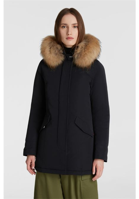 Luxury Arctic Parka with racoon fur - black WOOLRICH | Coat | WWOU0296FR-UT0573100