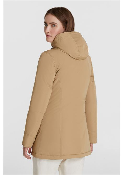 Luxury Arctic Parka with racoon fur - beige WOOLRICH | Coat | WWOU0296FR-UT05738926