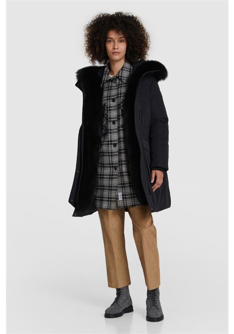 Military Parka with black fox fur WOOLRICH | Overcoat | WWOU0326FR-UT0573100