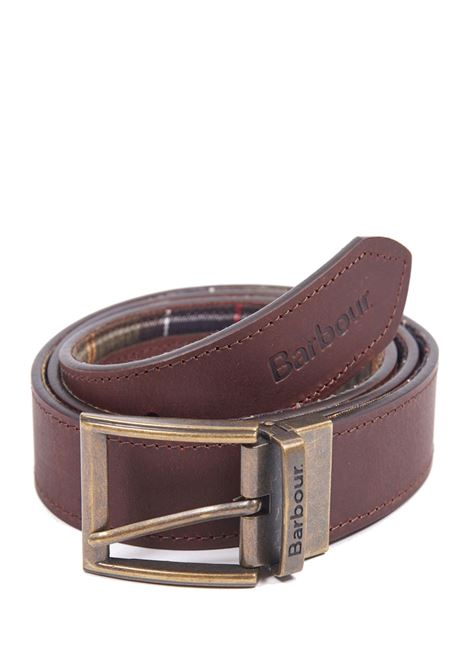 Cintura in pelle reversibile in tartan BARBOUR | Cinture | MAC0364TN11