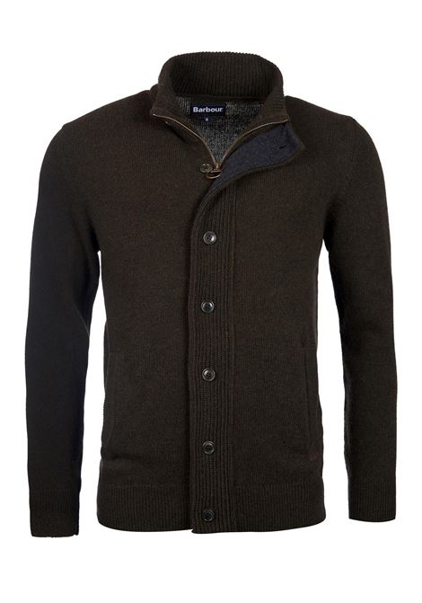 Cardigan con zip e patch Barbour BARBOUR | Maglieria | MKN0731GN73