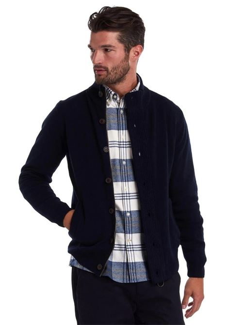 Cardigan con zip e patch Barbour BARBOUR | Maglieria | MKN0731NY91
