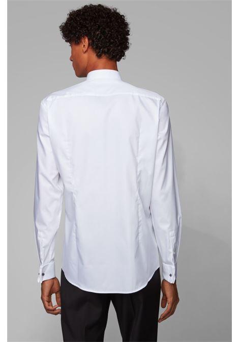 Slim-fit smoking shirt in pure cotton BOSS | Shirts | 50327676100