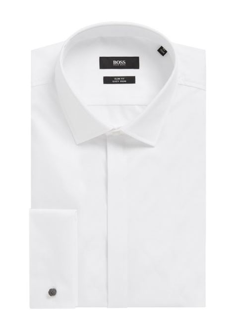 Slim fit business shirt in double cuff cotton BOSS | Shirts | 50328296100