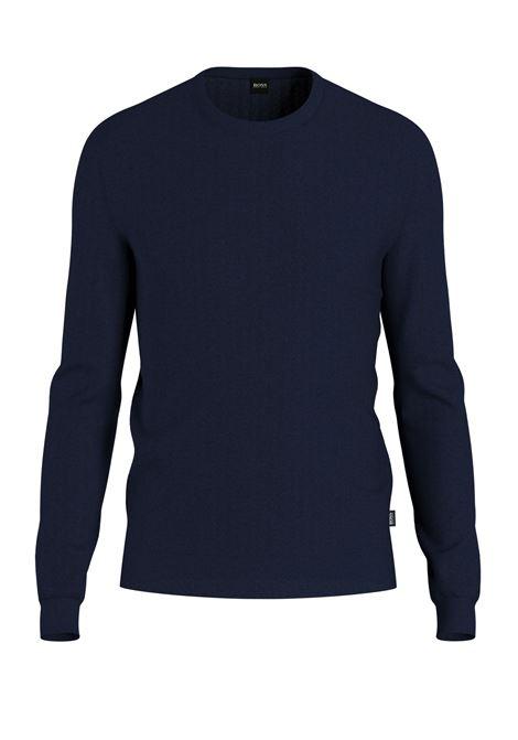 Virgin wool crewneck sweater  BOSS | Knitwear | 50378575408