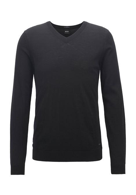 V-neck sweater in virgin wool BOSS | Knitwear | 50378576001