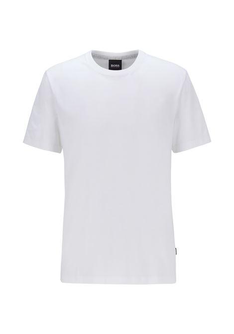 Pure cotton crew neck T-shirt with fluid finish BOSS | T-shirt | 50379310100