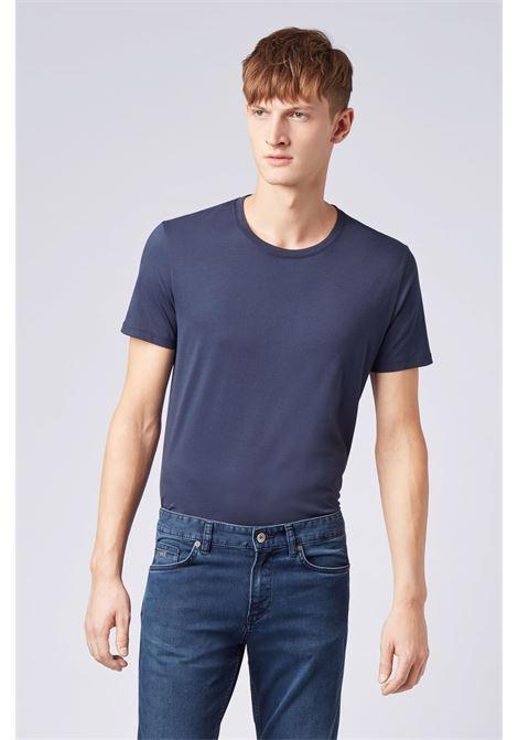 Pure cotton crew neck T-shirt with fluid finish BOSS | T-shirt | 50379310410