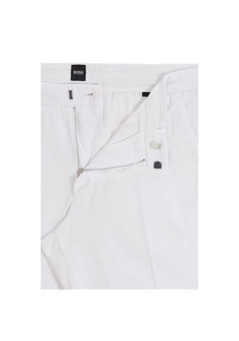 Slim fit chino trousers in stretch cotton gabardine BOSS | Pants | 50410310131