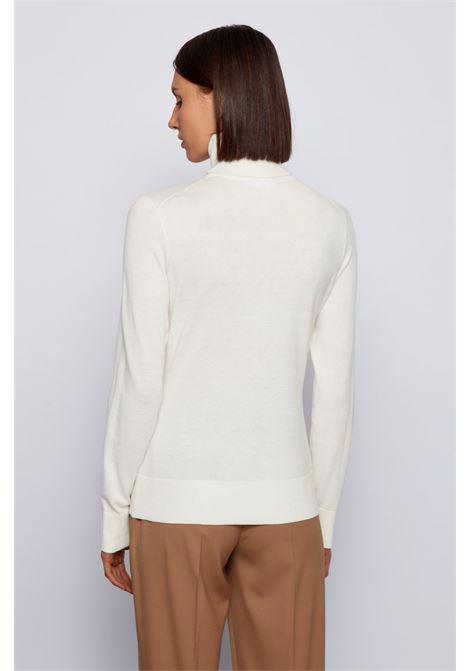 Maglione con collo alto in misto cachmere e seta BOSS | Maglieria | 50436155118