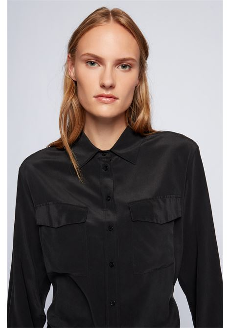Silk blouse with pockets BOSS | Blouses | 50447798001