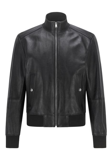 Black nappa leather bomber BOSS | Jackets | 50456274001