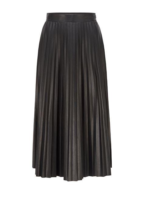 Vaplita - Pleated skirt in black eco-leather BOSS | Skirts | 50457047001