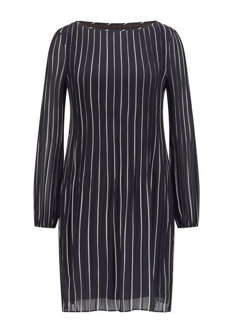 Vestito slim fit plissé con righe stampate BOSS | Vestiti | 50457251466
