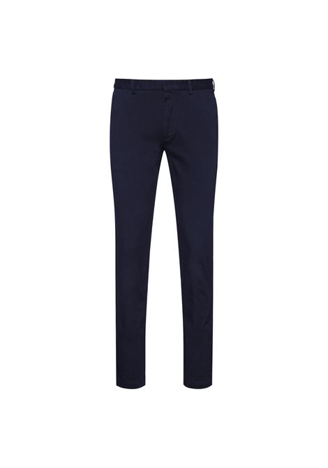 Slim fit chino trousers in dark blue quilted cotton BOSS | Pants | 50457264404