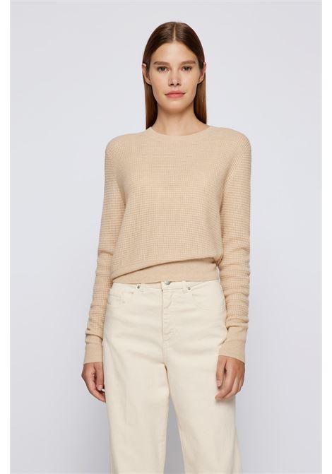 Crewneck sweater in alpaca and wool BOSS | Knitwear | 50457363277