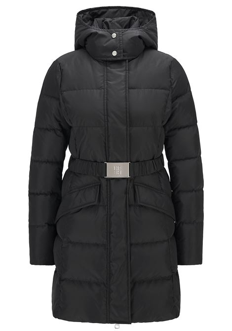 Slim fit down jacket with belt with Boss monogram BOSS |  | 50457427001