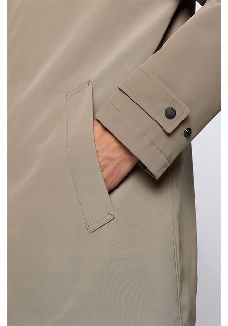 Cappotto impermeabile regular fit in tessuto riciclato BOSS | Cappotti | 50457490240