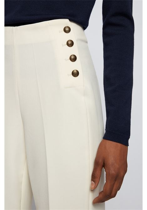 Pantaloni regular fit a gamba larga con bottoni ottone BOSS | Pantaloni | 50457555118
