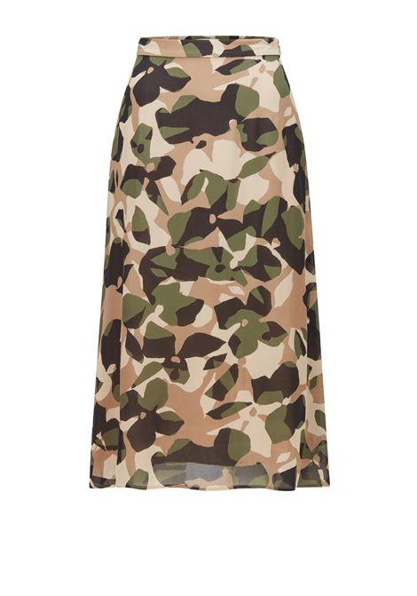 Flared skirt in printed silk BOSS | Skirts | 50457563968