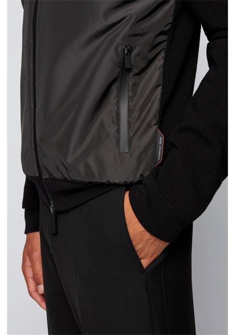 Giubbotto ibrido con zip con logo e cappuccio rimovibile BOSS   Giubbini   50457689001