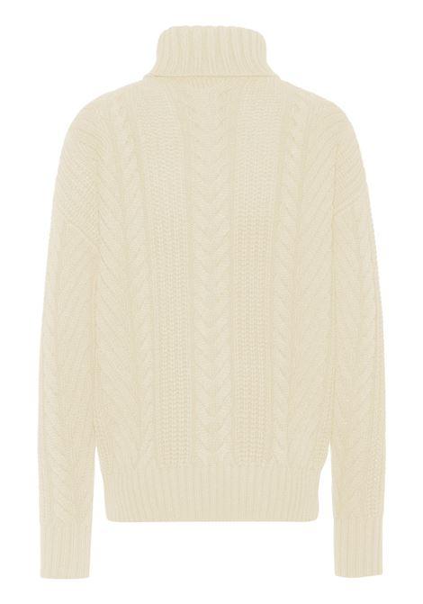 Wide neck sweater in woven virgin wool BOSS | Knitwear | 50457708131