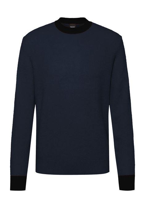 Maglione a girocollo in lana vergine e cachmere BOSS | Maglieria | 50457709404