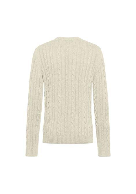 Maglione girocollo in misto lana e cachemere intrecciato BOSS | Maglieria | 50457721131