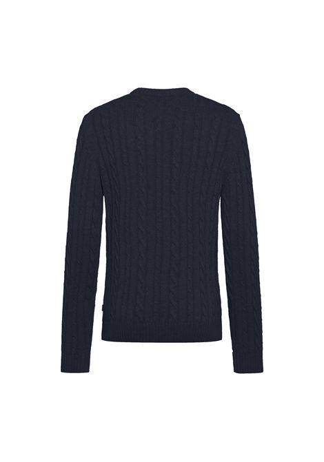 Maglione girocollo in misto lana e cachemere intrecciato BOSS | Maglieria | 50457721404