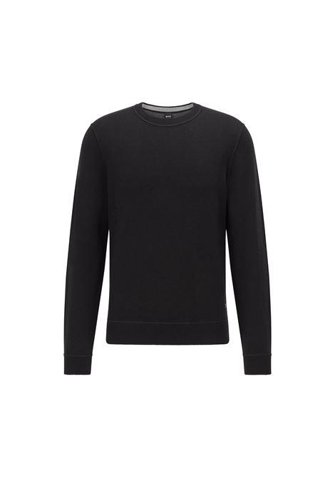 Reversible crew neck sweater in virgin wool BOSS | Knitwear | 50457731001