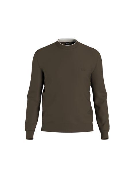 Regular fit crew neck sweater with virgin wool profile BOSS | Knitwear | 50457756308
