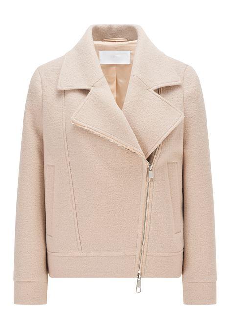 Biker jacket in beige wool BOSS | Jackets | 50458009277