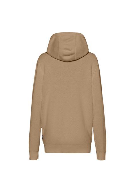 Cardigan with hood and zip in virgin wool blend BOSS | Knitwear | 50458466262