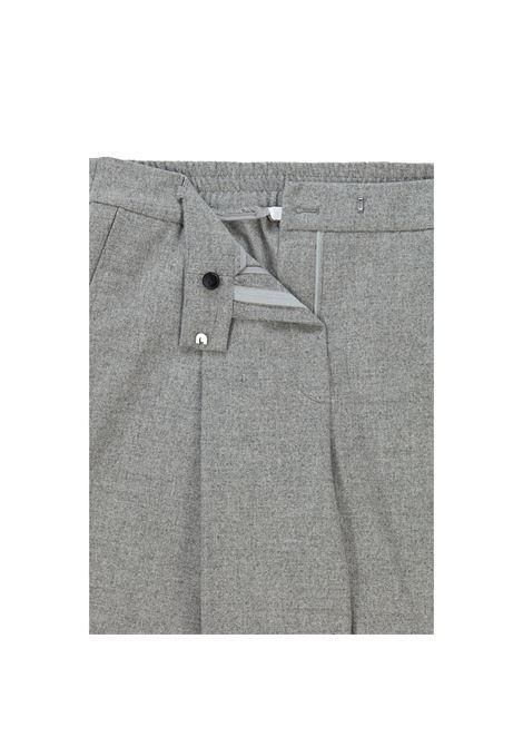 Pantalone baggy a vita alta in lana grigio chiaro BOSS | Pantaloni | 50458592040