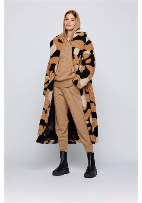 Cappotto relaxed fit in eco pelliccia maculata BOSS | Cappotti | 50458640968
