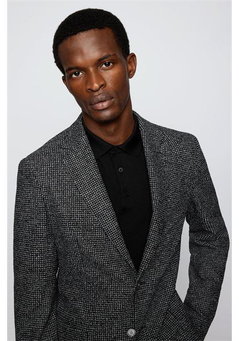 Slim fit jacket in wool blend micro check BOSS | Blazers | 50458764001