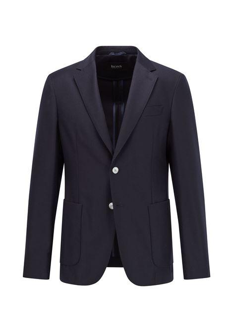 Slim fit jacket in stretch wool-flannel BOSS | Blazers | 50458785401