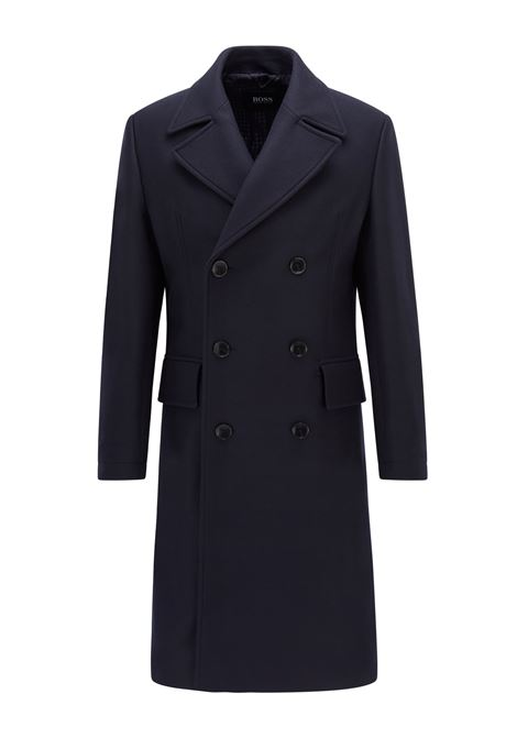Classic double-breasted coat in wool blend BOSS | Overcoat | 50458997404