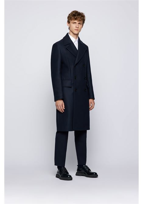 Cappotto classico doppiopetto in misto lana BOSS | Cappotti | 50458997404