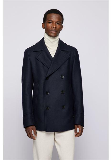 Slim fit pea coat in wool blend BOSS | Overcoat | 50459028402
