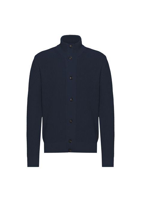 Cardigan with ribbed Korean collar BOSS | Knitwear | 50459171404