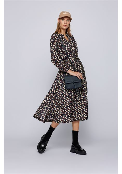 Printed silk dress with belt BOSS |  | 50459240963
