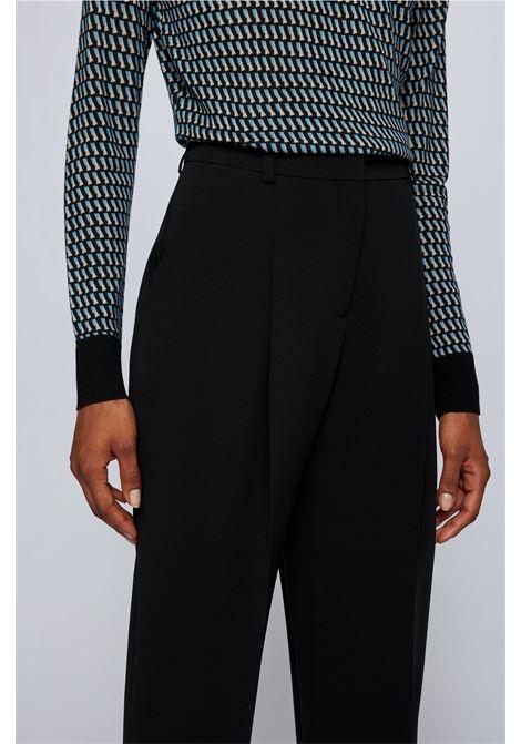 Pantaloni regular fit in crêpe giapponese con elasticità naturale BOSS | Pantaloni | 50459470001