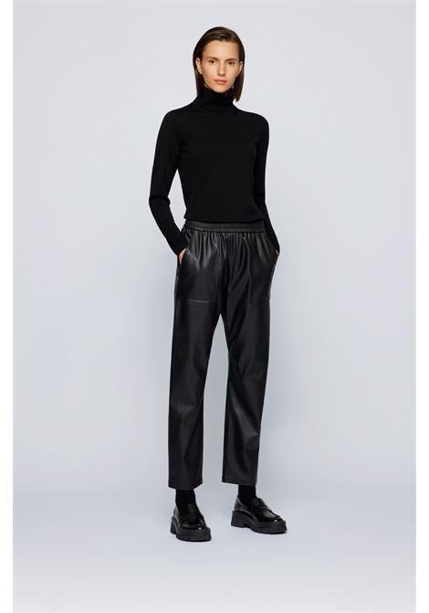 Slim fit turtleneck sweater in merino wool BOSS | Knitwear | 50459502001