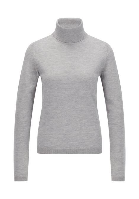 Slim fit sweater with high neck in merino wool BOSS | Knitwear | 50459502040