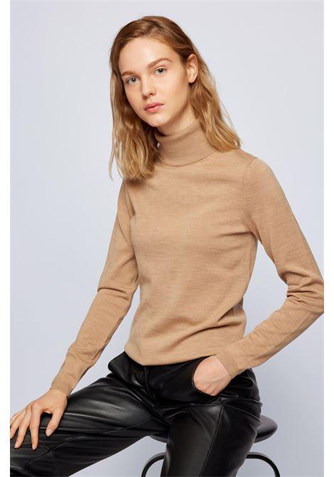 Slim fit turtleneck sweater in merino wool BOSS | Knitwear | 50459502235