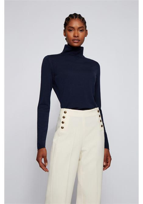 Slim fit sweater with high neck in merino wool BOSS | Knitwear | 50459502466