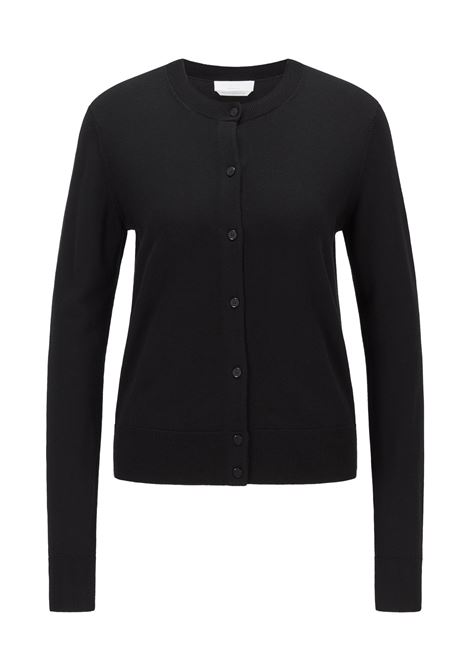 Crewneck cardigan with buttons in superfine merino wool BOSS | Knitwear | 50459528001